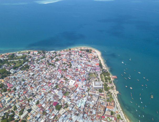 Aerial view of Zanzibar, Stone Town. Tanzania